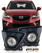 2013 2014 2015 Mazda CX-5 Clear Bumper Driving Fog Lights Full Complete Kit Set