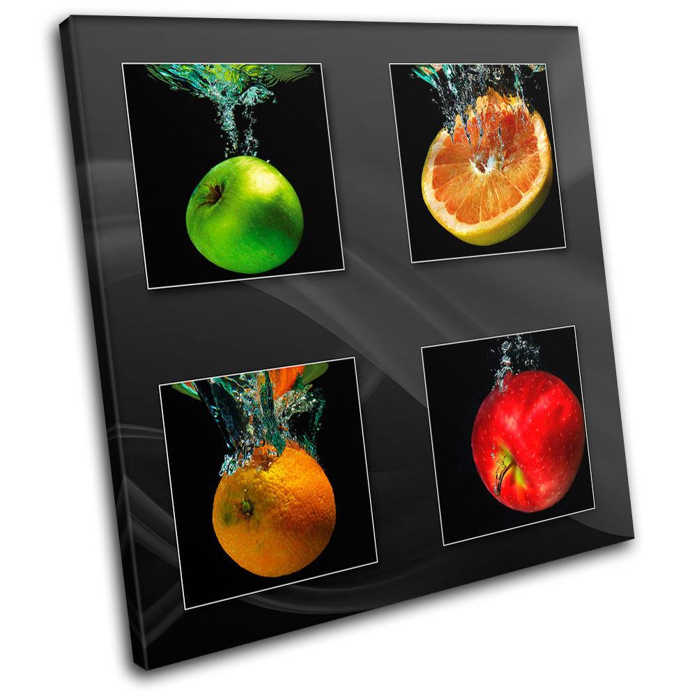 Fruit Apple Splash Food Kitchen SINGLE SINGLE SINGLE TELA parete arte foto stampa ef59da