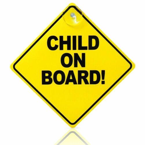 Nouveau Bébé à bord de sécurité enfant ventouses Voiture Bébé À Bord Voiture Signe