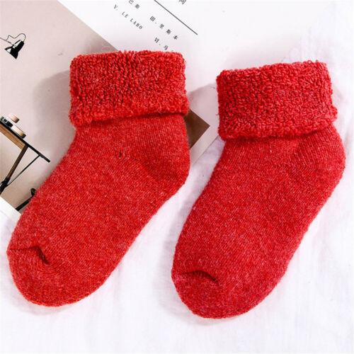 Toddler Kids Woolen Socks Snow Floor Socks Childen Baby Stocking Thick Warm