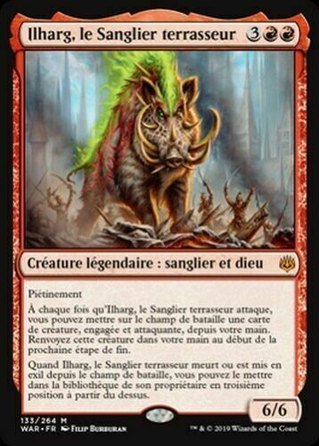 LE SANGLIER TERRASSEUR FR the Raze Boar ILHARG MTG Magic 1X Ilharg