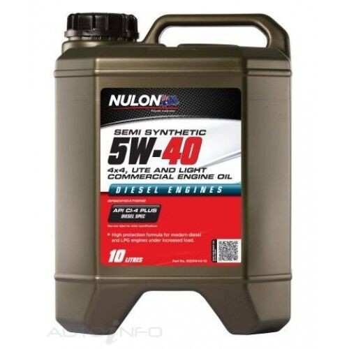 Nulon Semi Synthetic 5W-40 4x4 Ute and Light Commercial Engine Oil 10 Litre
