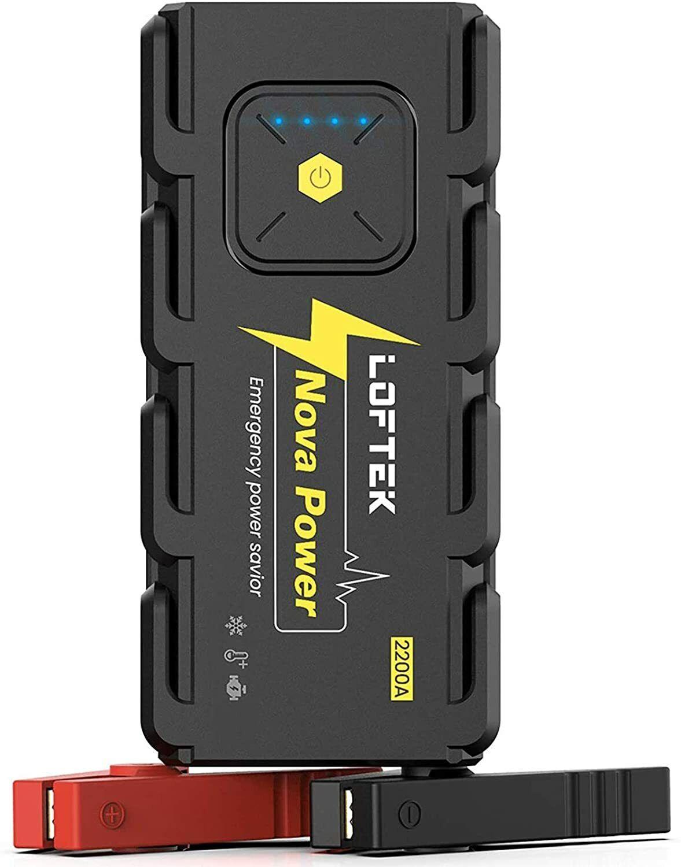 ⚡ LOFTEK 12V Car Jump Starter 2200A Peak 20800mAh DEL Battery Charger Sealed