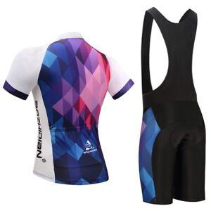 c8708b48b Ladies Cycling Clothing Set Women  s Cycle Jersey Top Bike  (Bib ) Shorts  Kit S-5XL