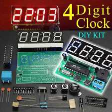 4 Digit Digital LED Electronic Clock DIY Kit Parts Components AT89C2051