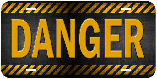 Danger Personalized Any Name  Aluminum Car Auto License Plate