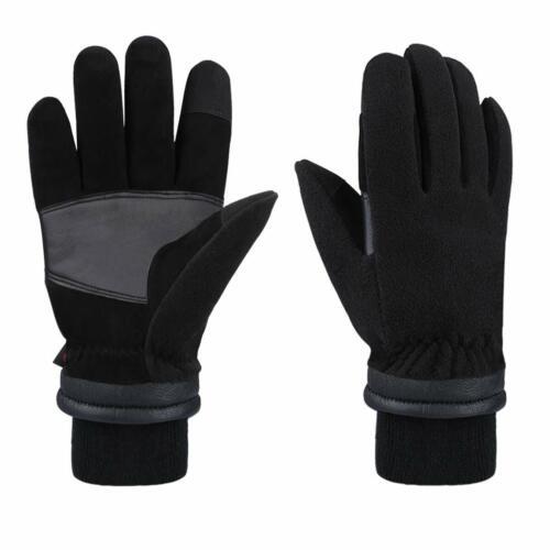 Winter Gloves with Touchscreen Fingers Deerskin Suede Leather Warm Waterproof UK