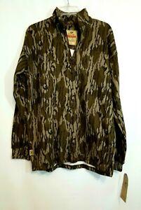 Mossy Oak Vintage Camo 1/4 Zip Jacket, Men's Size Med, Quarter Zip Pullover, NEW