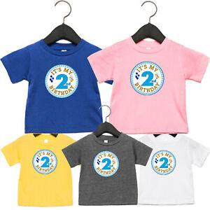 Birthday Toddler T-shirt Gift Kids 2nd Its My Birthday Personalised Tee