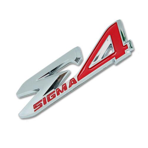 """Logo Emblem Decal /""""E4/"""" Trim Chrome Red For Toyota Fortuner Suv 2015 2018"""