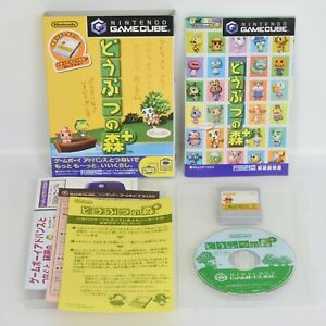 DOBUTSU-NO-MORI-Plus-with-Memory-Card-Game-Cube-Nintendo-For-JP-System-1041-gc