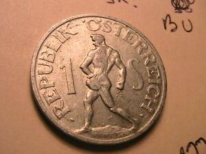1946-AUSTRIA-1-Schilling-AU-BU-Scarce-Date-Post-WWII-Issue-KM2871-Austrian-Coin