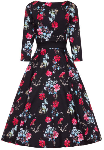 Abito Vintage Roses da Flowers Rockabilly Swing sera Floral Yasmin Hearts xYpvnqfwY