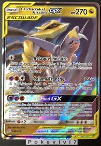 Carte-Pokemon-CARCHACROK-ET-GIRATINA-146-236-GX-Escouade-SL11-FR-NEUF