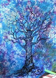Queen Indian Tree Of Life Tapestry Wall Hanging Boho Hippie Bedspread Decor Art