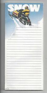 Snowmobile Notepads Paul Oxman LP-312 Vintage Racing