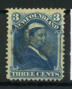 Newfoundland-1868-MER-33-timbrato-80-3-C-Regina-Vittoria