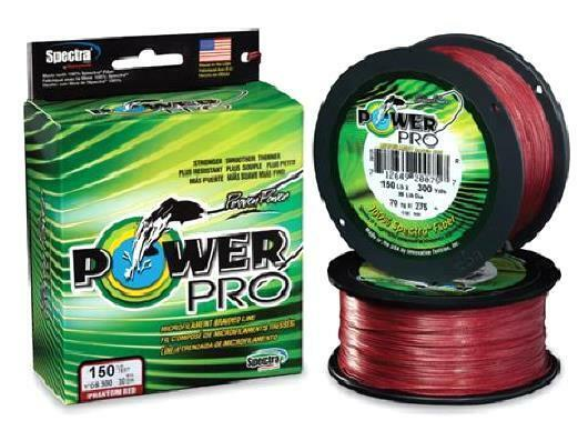 Power Pro Spectra Braid Vermilion Red, 8 lb 500 yards, NEW