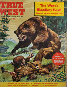 True West March 1960 Vtg Magazine Lost Grizzly Mine Bloody Trail NoML GD