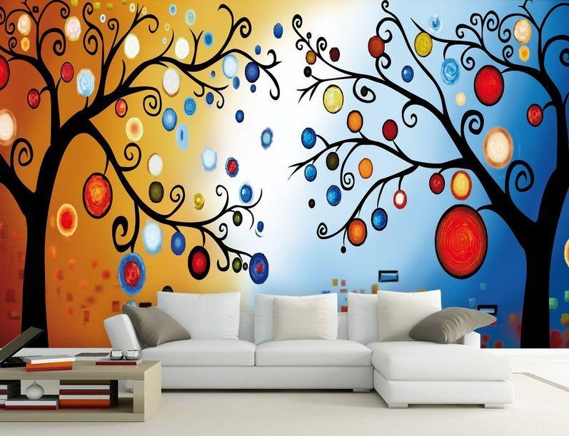 3D albero palla Parete Murale Foto Carta da parati immagine sfondo muro stampa