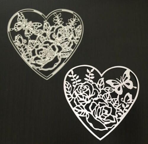 Craft Dies Butterfly Floral Heart Frame Die