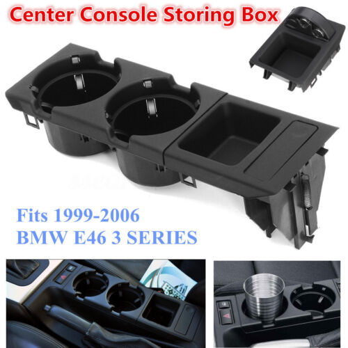 Front Center Console Drink Cup Holder Storing BOX For BMW E46 3Series 1999-2006