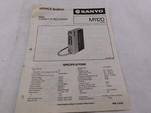 Sanyo-M-1120-Stereo-Radio-Cassette-Player-Original-Service-Manual