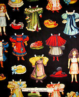 Doll Fabric - Victorian Baby Dolls Clothes Blue Hill Victorian Paper Doll - Yard