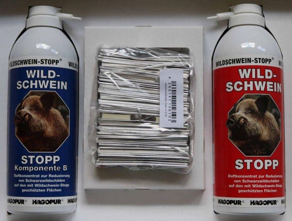 Hagopur 2x400ml Wildschwein-Stopp 2x400ml Hagopur Set Sprühflasche Trägerstreifen Wildschwein... 19cc28