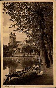 Bad-Klosterlausnitz-Thueringen-AK-1920-30-Fachwerk-Stadt-Haeuser-Fachwerkhaeuser