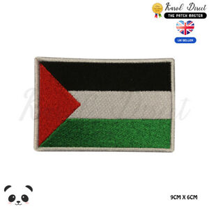 PALESTINE National Flag Embroidered Iron On Sew On PatchBadge For Clothes etc