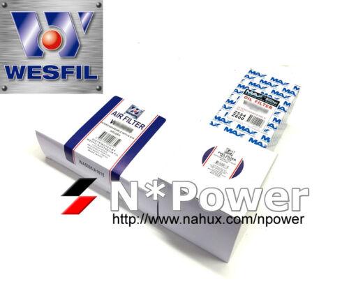 WESFIL AIR OIL FUEL FILTER KIT FOR Kia Sorento 2.2L CRDi 10//2009-9//2012 XM D4HBA