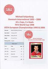 Michael Schjonberg Dinamarca 1995-2000 Etiqueta Original Firmado Panini (Sin usar)