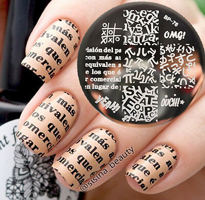 Alphabet Theme Nail Art Stamping Template Image Plate Newly BORN PRETTY BP76