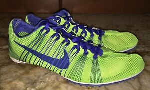 huge selection of 9d7bf bb284 Image is loading NIKE-Zoom-Victory-2-Volt-Yellow-Middle-Distance-