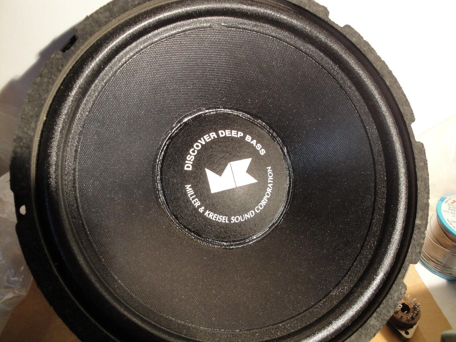 M & K - MILLER KREISEL 17420 12  V75 HOME AUDIO SUBWOOFER SPEAKER 4 ohm