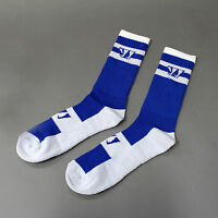 Warrior Stripe Crew Lacrosse Performance Socks Royal Large Retails: $9.99