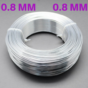 0.8mm Aluminium Craft Florist Wire Jewellery Making Silver 10m lengths
