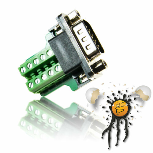 Rs232 UART serial atornilla-adaptador mini db9 female//male cero-convertidor de módem