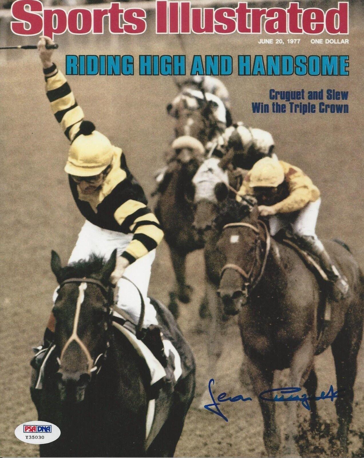 Jean Cruguet Horse Racing Jockey Signed 8x10 Photo - PSA/DNA # Y35030