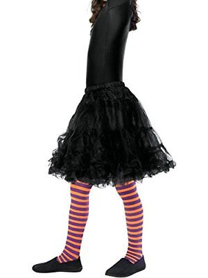 Halloween Strega Cattiva Collant, Bambino, Arancione & Viola-