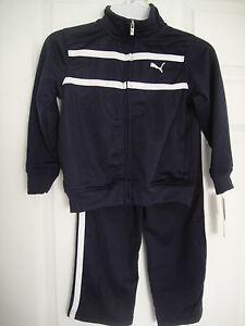 6fc777614c33 PUMA NWT Boys 2PC Track Suit Jacket Pant Top Shirt Black warm up 12 ...