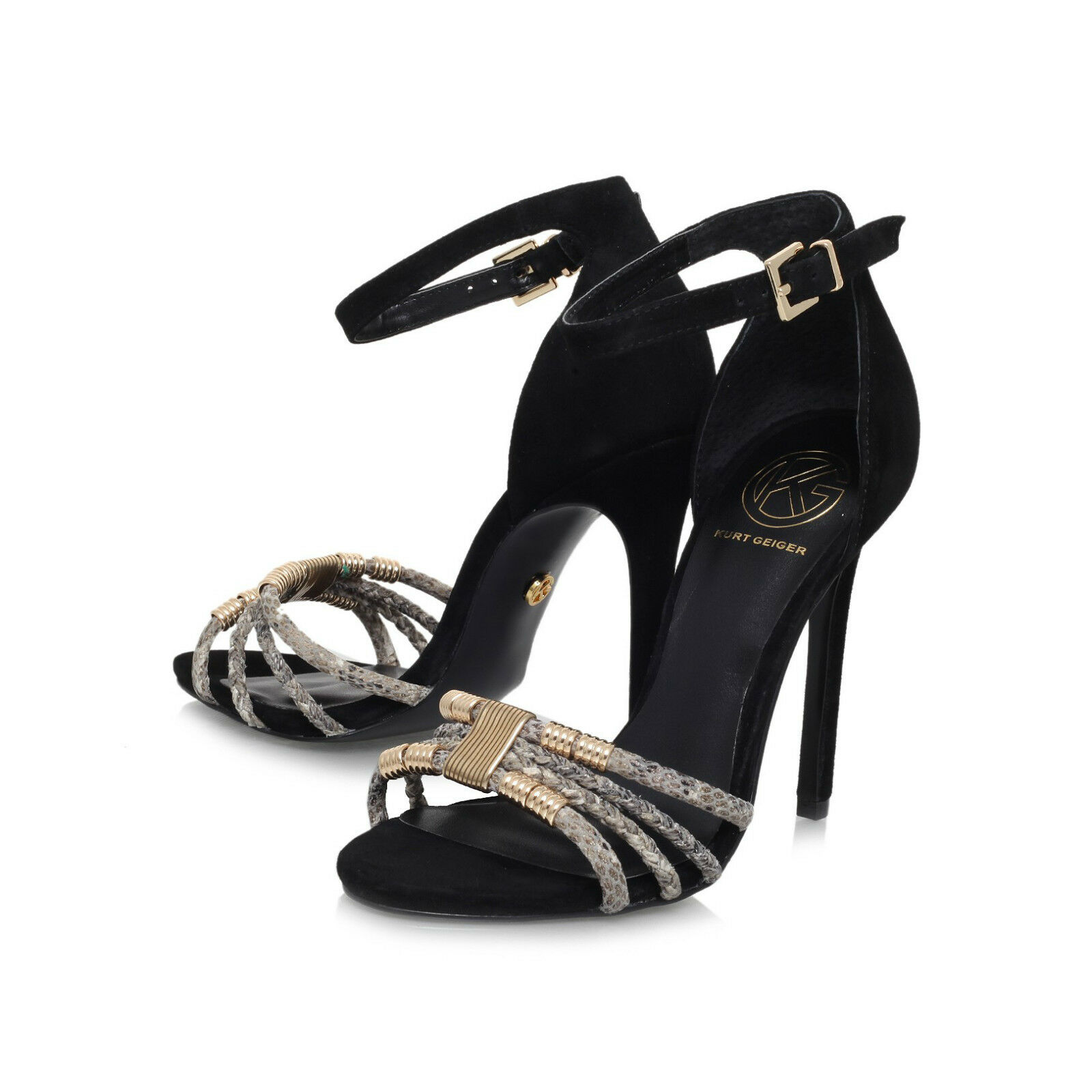 KG Schuhe SANDALS /   STILETTO / PEEP TOE / STILETTO  / ANKLE STRAP . UK 7  EU 40 5ddf87