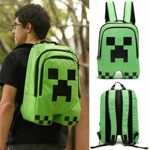 Minecraft School Backpack Creeper Rucksack Waterproof Boy Sports Storage Bag