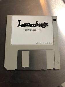 Vintage-PC-Game-Lemmings-For-Microsoft-DOS-floppy-disk-1991-Psygnosis-DMA-Design