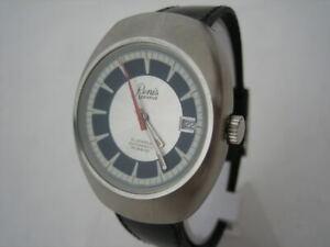 NOS-NEW-SWISS-VINTAGE-BIG-RENIS-AUTOMATIC-WATER-RESIST-DATE-MEN-039-S-ANALOG-WATCH