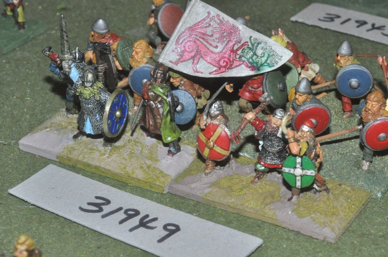 25mm dark ages   viking - battle group 18 figures - inf (31949)