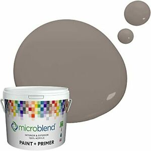 Microblend Interior Paint and Primer - Brown Cool/Homestead Hearth Flat Sheen...