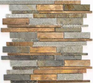 Mosaik-Fliesen-Stein-Kupfer-Grau-Rost-Composite-Steinmauer-47-xsk565-f-10-Blatt
