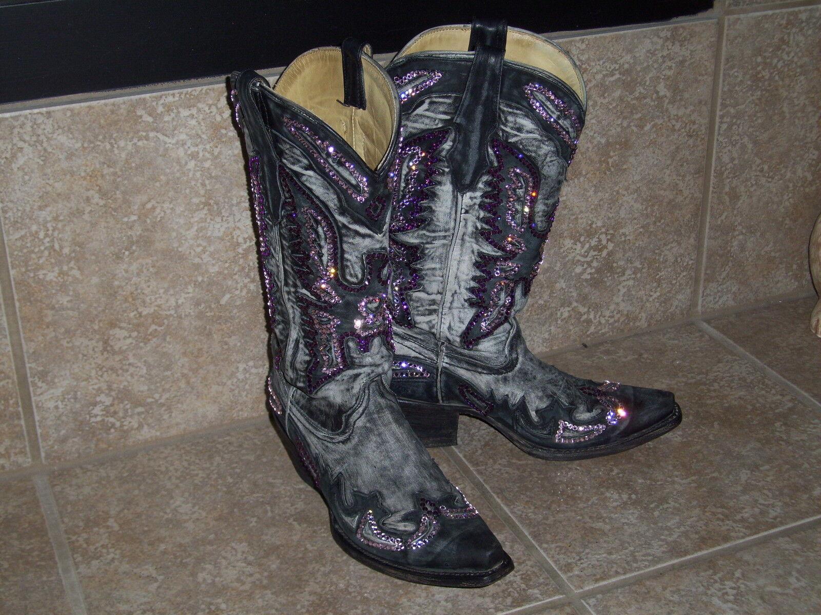 Corral botas personalizado con Gemz-apenas usado en en en pantalla-Talla 5.5 M  Venta al por mayor barato y de alta calidad.